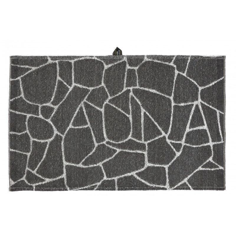 Pyyhe Salasauna 75x50cm harmaa-valkoinen