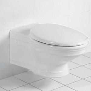 Seinä-WC Ceramicplus-pinnoitteella Villeroy & Boch Amadea 7C96 365x645 mm Valkoinen Alpin + istuinkansi