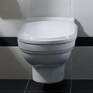Seinä-WC Ceramicplus-pinnoitteella Villeroy & Boch Hommage 6661 370x600 mm Valkoinen Alpin + istuinkansi