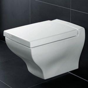 Seinä-WC Ceramicplus-pinnoitteella Villeroy & Boch La Belle 5627 385x585 mm Valkoinen Alpin + istuinkansi