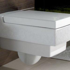 Seinä-WC Ceramicplus-pinnoitteella Villeroy & Boch Memento 5628 375x560 mm Valkoinen Alpin + istuinkansi