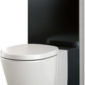 Seinä-WC-moduuli Monolith BTW-lattiaistuimelle musta H101