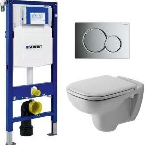 Seinä-WC -paketti Duravit D-code Geberit Duofix 112