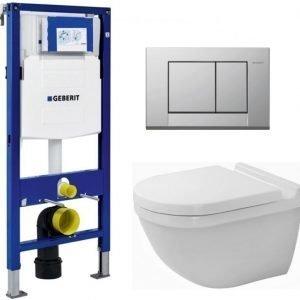 Seinä-WC -paketti Duravit Starck3 Geberit Duofix 112