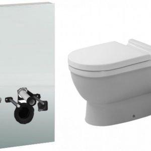 Seinä-WC -paketti Duravit Starck3 Geberit Monolith valkoinen