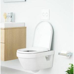 Seinä-WC-paketti Gustavsberg 5G84 Hygienic Flush Triomont- telineellä ja Soft close -kannella