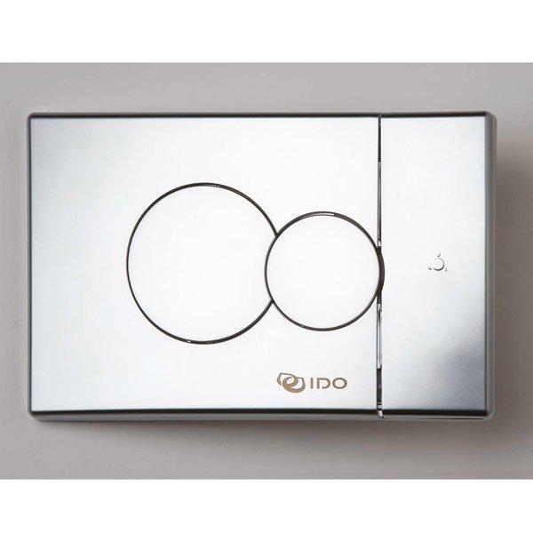 Seinä-WC:n painonappi IDO 69084 pieni mattakromi