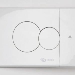Seinä-WC:n painonappi IDO 69084 pieni valkoinen