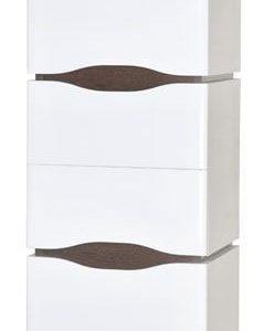 Seinäkaappi Aquarodos Venezia valkoinen pyykkikorilla 400x335x1650mm
