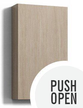 Seinäkaappi Forma 70x30x15 cm Push Open vaalea tammi
