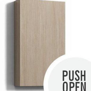 Seinäkaappi Forma 70x40x15 cm Push Open vaalea tammi
