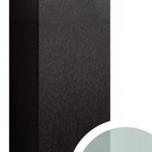Seinäkaappi Forma 70x40x15 cm huurrelasi/musta tammi