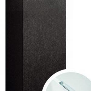 Seinäkaappi Forma 70x40x15 cm integroitu vedin 6 musta tammi