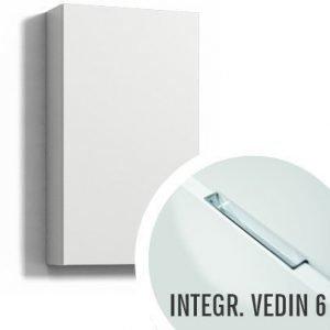 Seinäkaappi Forma 70x40x15 cm integroitu vedin 6 valkoinen