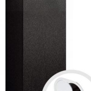 Seinäkaappi Forma 70x40x15 cm integroitu vedin 7 musta tammi