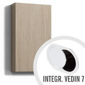 Seinäkaappi Forma 70x40x15 cm integroitu vedin 7 vaalea tammi