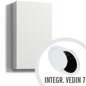 Seinäkaappi Forma 70x40x15 cm integroitu vedin 7 valkoinen