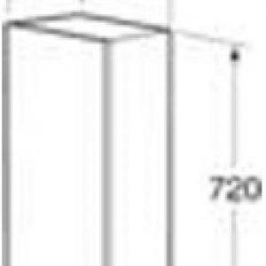 Seinäkaappi Gustavsberg Logic 1810 Classy White 300x160x720 mm