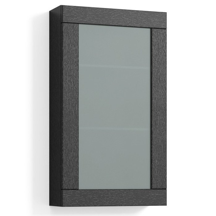 Seinäkaappi Svedbergs Stil Frost 40x70 cm musta tammi kehys huurrelasi