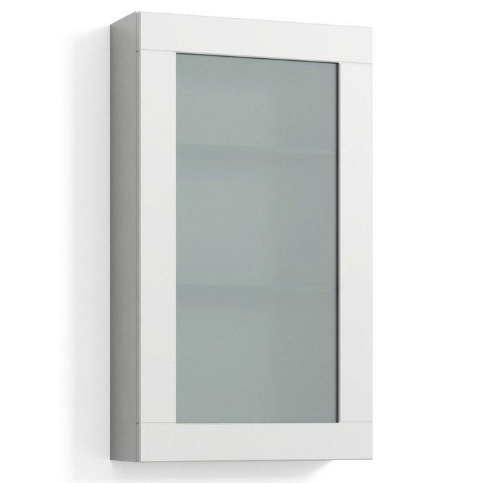 Seinäkaappi Svedbergs Stil Frost 40x70 cm valkoinen kehys huurrelasi