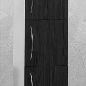 Sivukaappi Picard by Finnmirror 123 400x1230x295 mm valkoinen/musta