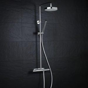 Suihkuhana Wave termostaattinen suihkusetti + yläsuihku kromi