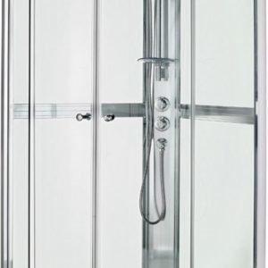 Suihkukaappi Gustavsberg Nautic puolipyöreä 90x90 cm kromi