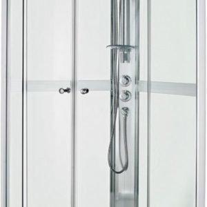 Suihkukaappi Gustavsberg Nautic puolipyöreä 90x90 cm valkoinen