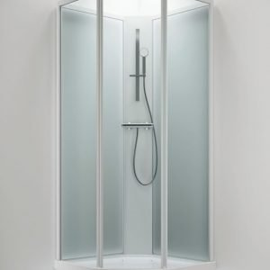 Suihkukaappi Sanka BRIC 2 700x900 mm oikea valkoinen/lasi kirkas ja frost