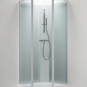 Suihkukaappi Sanka BRIC 2 800x900 mm oikea valkoinen/lasi kirkas ja frost