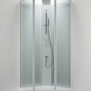Suihkukaappi Sanka BRIC 3 1000x1000 mm valkoinen/lasi kirkas ja frost