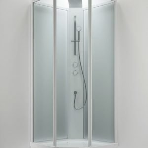 Suihkukaappi Sanka BRIC 3 800x900 mm vasen valkoinen/lasi kirkas ja frost