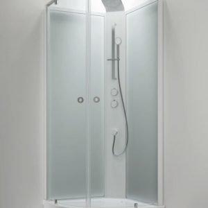 Suihkukaappi Sanka BRIC 4 1010x1010 mm valkoinen/lasi kirkas ja frost