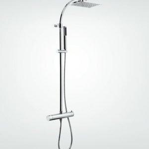 Suihkukokonaisuus Ellisse 96150T termostaatti + yläsuihku 250x170 mm + käsisuihku kromi