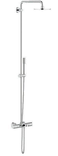 Suihkukokonaisuus Grohe Rainshower System 210 termostaatti ammejuoksuputkella + yläsuihku + käsisuihku