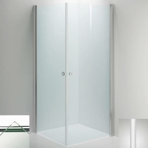 Suihkukulma Sanka LINC Angel 1000x1000 mm valkoinen/lasi kirkas