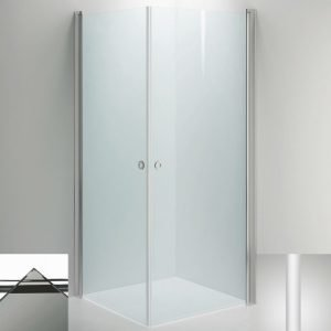 Suihkukulma Sanka LINC Angel 700x700 mm valkoinen/lasi savu