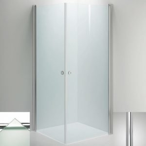 Suihkukulma Sanka LINC Angel 800x1000 mm kiiltävä/lasi frost