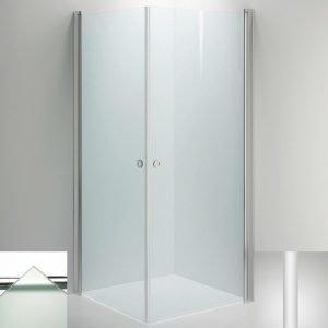 Suihkukulma Sanka LINC Angel 800x1000 mm valkoinen/lasi frost