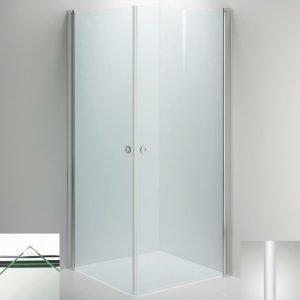 Suihkukulma Sanka LINC Angel 800x1000 mm valkoinen/lasi kirkas