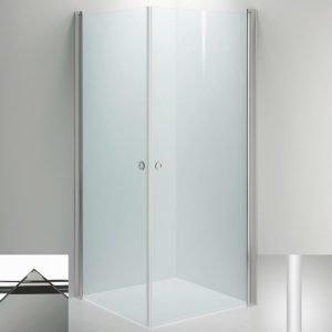 Suihkukulma Sanka LINC Angel 800x1000 mm valkoinen/lasi savu