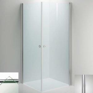 Suihkukulma Sanka LINC Angel 800x800 mm kiiltävä/lasi kirkas