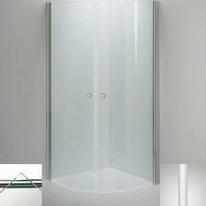 Suihkukulma Sanka LINC Niagara 800x1000 mm valkoinen/lasi kirkas