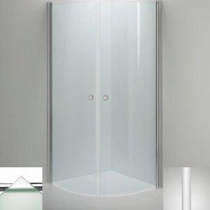 Suihkukulma Sanka LINC Niagara 800x800 mm valkoinen/lasi frost