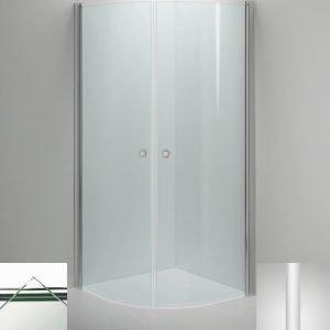 Suihkukulma Sanka LINC Niagara 800x900 mm valkoinen/lasi kirkas