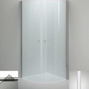 Suihkukulma Sanka LINC Niagara 800x900 mm valkoinen/lasi savu