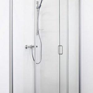 Suihkukulma Sanka ST 8090 runko mattahopea/lasi kirkas