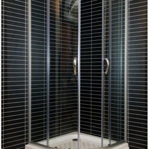 Suihkukulma Tammiholma SKA-900A 90x90 cm alumiini/kirkas
