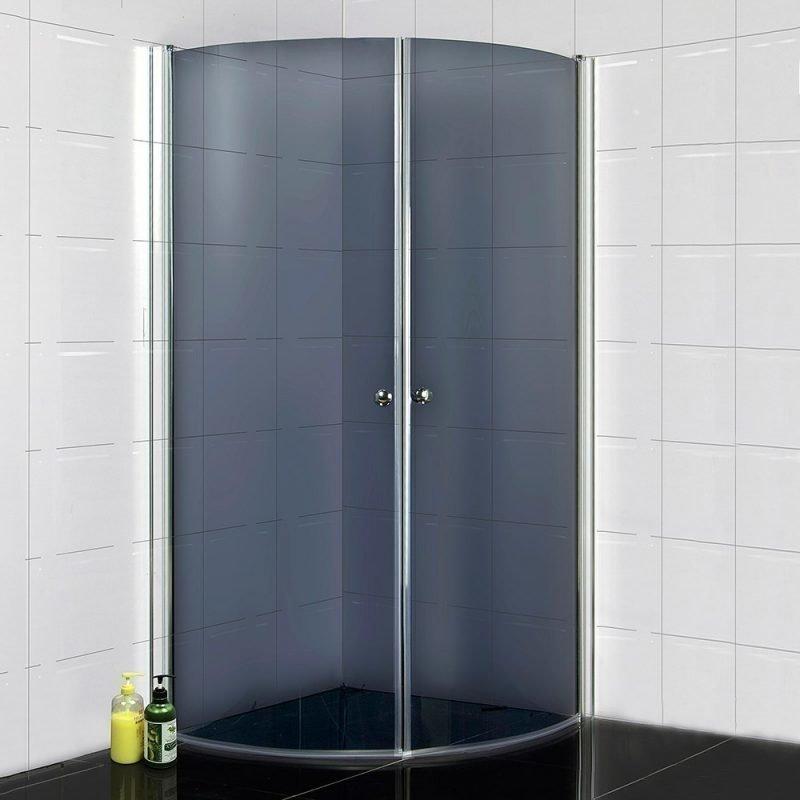 Suihkunurkka Bathlife 900 900x900 mm pyöristetty tumma