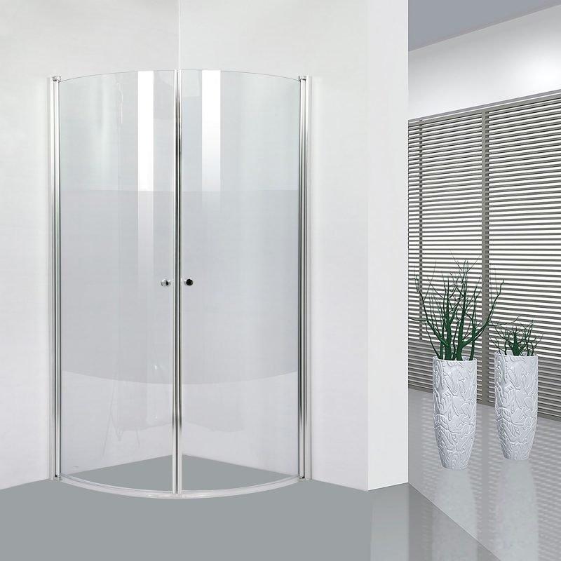 Suihkunurkka Bathlife Ideal puolipyöreä 900 x 900 mm osittain huurrettu